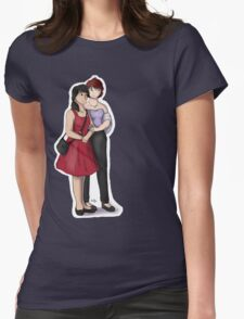 Young Couple Womens Fitted T-Shirt