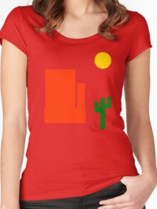 Take A Trip Out West Women's Fitted Scoop T-Shirt