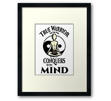 Conquer Your Mind Framed Print