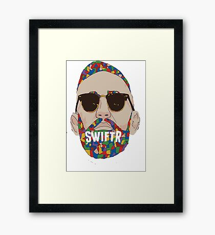 swiftr man Framed Print