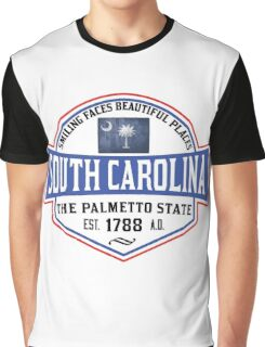 SOUTH CAROLINA THE PALMETTO STATE COLUMBIA CHARLESTON MYRTLE BEACH Graphic T-Shirt