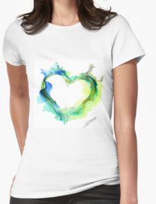 Ink Heart Womens Fitted T-Shirt