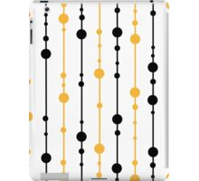 Yellow, black and white pattern iPad Case/Skin