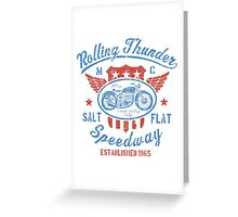 Rolling Thunder Vintage Motorcycle Greeting Card