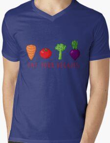 EAT UR VEG Mens V-Neck T-Shirt