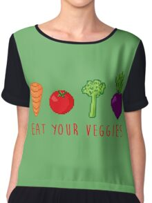 EAT UR VEG Chiffon Top