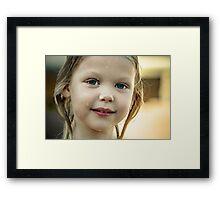 Little Wet Face Framed Print