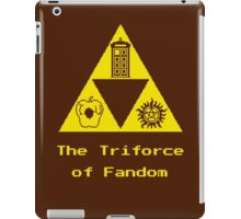 The Triforce of Fandom (Superwholock) iPad Case/Skin