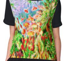 Plants & Animals, magic mushrooms, fungi, bryophyta, moss, psychedelic, art, illustration, haeckel,  Chiffon Top