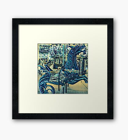Seasprayed hippocampus Framed Print