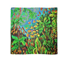 Plants & Animals, magic mushrooms, fungi, bryophyta, moss, psychedelic, art, illustration, haeckel,  Scarf