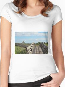 Beauty At The Boardwalk Women's Fitted Scoop T-Shirt