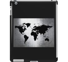World Map Metal iPad Case/Skin