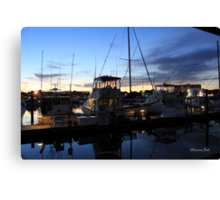 Fishing Boats ~ Waterfront Evening  Canvas Print