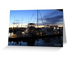Fishing Boats ~ Waterfront Evening  Greeting Card