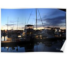 Fishing Boats ~ Waterfront Evening  Poster