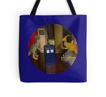 Dinosaurs have the TARDIS Tote Bag