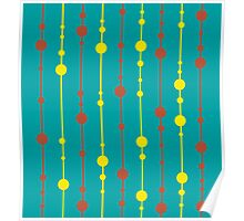 Green, yellow and red pattern Poster