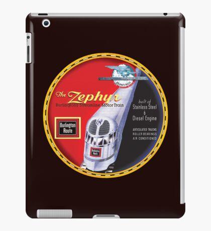 Burlington Rail Zephyr Train iPad Case/Skin