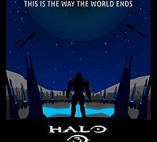 Minimalist Halo 3 Poster by Jordan Garvey