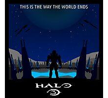 Minimalist Halo 3 Poster Photographic Print
