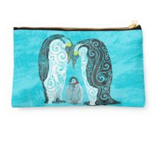 Swirly Pinguin Family Studio Pouch