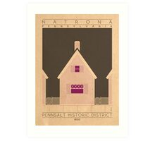 Pennsalt Historic District - 1850 (Purple) Art Print