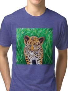 Little Leopard Tri-blend T-Shirt