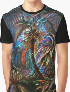 Plants & Animals, palm, tree, beach, ferns, psychedelic, art, illustration, haeckel,  Graphic T-Shirt