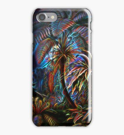 Plants & Animals, palm, tree, beach, ferns, psychedelic, art, illustration, haeckel,  iPhone Case/Skin