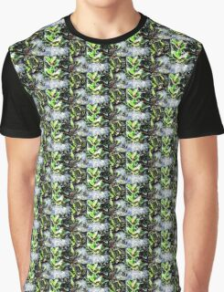 Frosty holly with cobweb digitally enhanced photograph Graphic T-Shirt