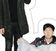 Dan and Phil Go Outside (umbrella) Sticker