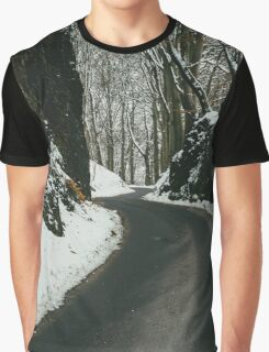 Winter Road And Snow Graphic T-Shirt