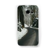 Winter Road And Snow Samsung Galaxy Case/Skin