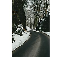 Winter Road And Snow Photographic Print
