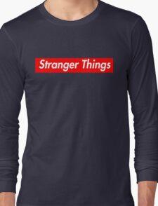 stranger things supreme logo Long Sleeve T-Shirt