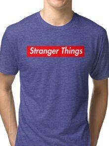 stranger things supreme logo Tri-blend T-Shirt