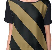 Nashville Tennessee Black & Gold Team Color Stripes Chiffon Top