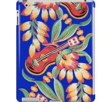 Ukulele Pattern (Blue) iPad Case/Skin