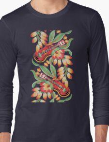 Ukulele Pattern (Blue) Long Sleeve T-Shirt