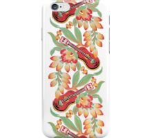 Ukulele Pattern (White) iPhone Case/Skin