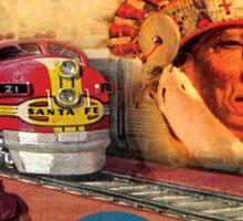 Sante Fe Railroad Big Chief Sticker