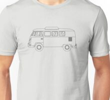 Wireframe VW Camper Van Unisex T-Shirt