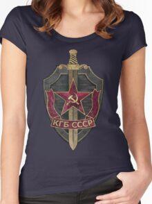 KGB Vintage Emblem 01 Women's Fitted Scoop T-Shirt