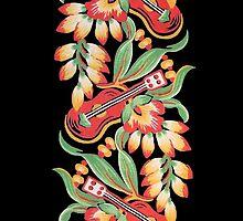 Ukulele Pattern (Black) by sargus