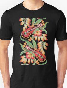 Ukulele Pattern (Black) Unisex T-Shirt