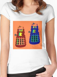 PIXELATE EXTERMINATE 1 Women's Fitted Scoop T-Shirt