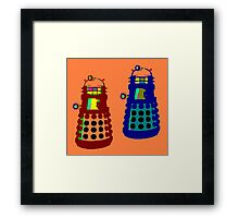 PIXELATE EXTERMINATE 1 Framed Print