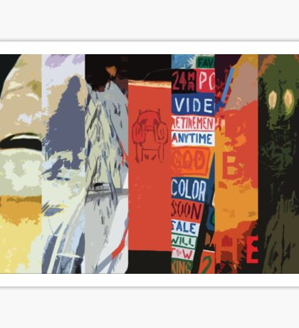 Radiohead All Album Covers Sticker