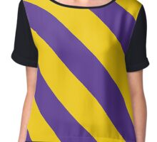 Williamstown Massachusetts Purple & Yellow Team Color Stripes Chiffon Top